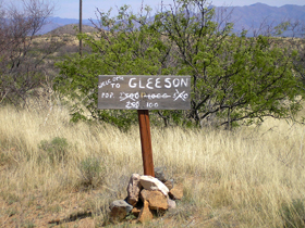 Gleeson, Arizona Sign