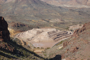 The Gold Road Mine in Arizona is active and off limits today