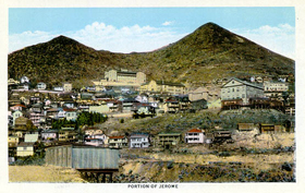 Jerome, Arizona vintage postcard