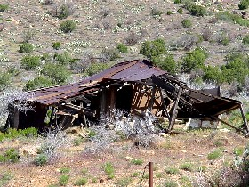 Old building at Mineral Park, Arizona