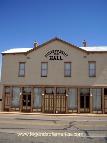 Schieffelin Hall in Tombstone, Arizona today.