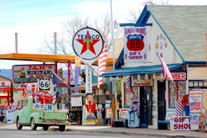 Seligman, Arizona is a very colorful town.