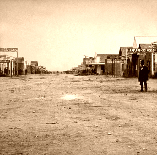 Allen Street in Tombstone, Arizona's early days
