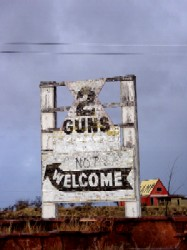 Two Guns Arizona Sign