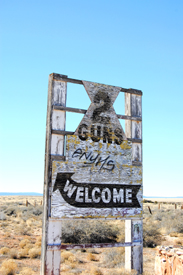 Welcome to Two Guns, Arizona