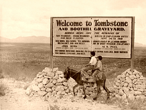 Welcome to Tombstone, Arizona in the 1930s