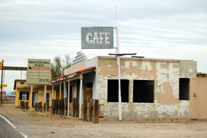 Abandoned cafe in Yucca, Arizona