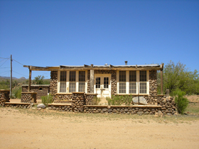 A building in Bumble Bee, Arizona
