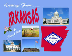 Custom Arkansas Postcard