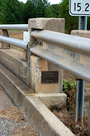 Boggy Creek Bridge Plaque