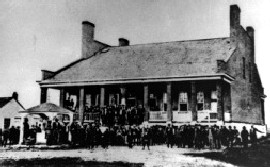 Fort Smith Courthouse and Jail, circa 1875