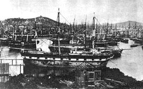 Abandoned Ships in San Francisco Harbor 1849