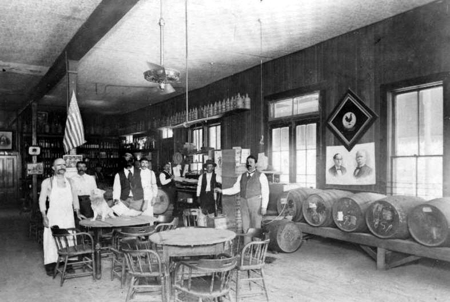 Old West Saloons Vintage Photographs Rust Winery
