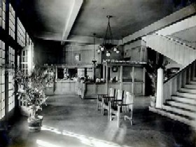 Harvey House Lobby in Barstow, California
