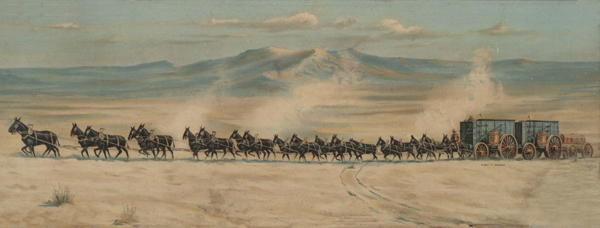 20-Mule Team hauling Borax in Death Valley