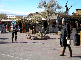 Calico California Gunfight Reenactment. Kathy Weiser, December 2005