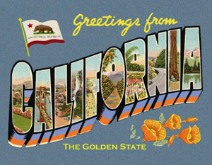 Greetings From California custom postcard