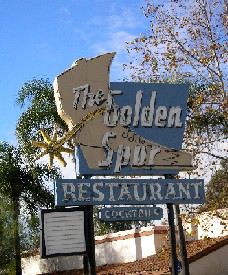 Golden Spur Sign in Glendora, California