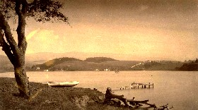 Lake Merritt, California, from Adams Point, 1884
