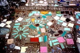 Mosaic Walkway at the Bottle Village