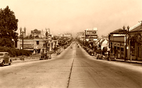 Colorado Boulevard in Pasadena, California in 1929