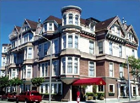 Queen Anne Hotel in San Francisco, California.