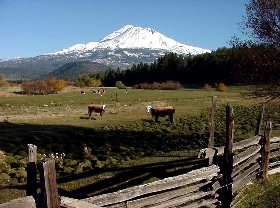 Mount Shasta in Siskiyou County, California