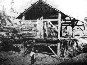 James marshall at Sutter's Mill, Coloma, California, 1851