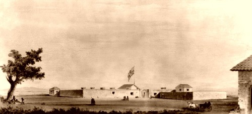 Sutter's Fort in Sacramento, California, 1847