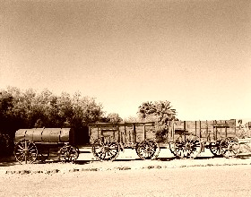 Twenty Mule Borax Wagon in Death Valley, California