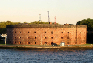 Castle Williams on Governor's Island in the New York Harbor