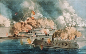 Great fight at Fort Sumter, April, 1863, by Couier & Ives.