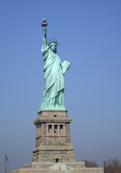 Liberty Island and the Statue of Liberty, New York