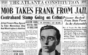 Newspaper report on Leo Frank Lynching
