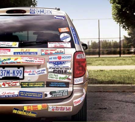 Bumper stickers used to be