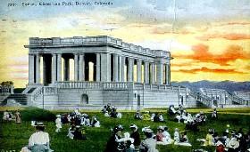 Cheesman Park vintage postcard