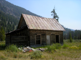 Old house in Bonanza, Idaho