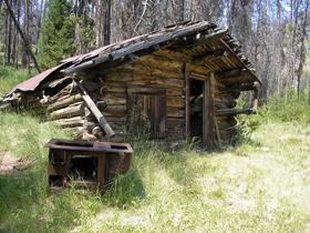 Miners Cabin in Bonanza, Idaho