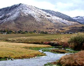 Portneuf River south of Pocatello, Idaho