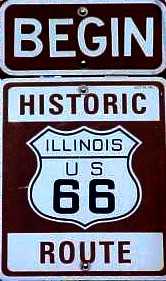 Route 66 begins in Chicago, Illionois