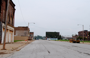 Commercial Avenue in Cairo, Illinois today