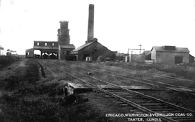 Chicago, Wilmington & Vermilion Coal Company in Thayer, Illinois