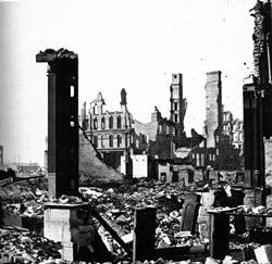 Corner of Dearborn and Monroe after the Great Chicago Fire of 1871