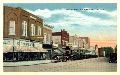 Collinsville, Illinois vintage postcard