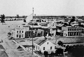 Commercial Avenue in Cairo, Illinois in the 1850's.