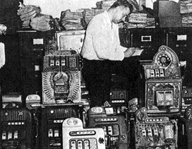 Gambling equipment taken in the raids of the 1950's.