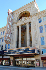 The historical Rialto Theatre in Joliet, Illinois.