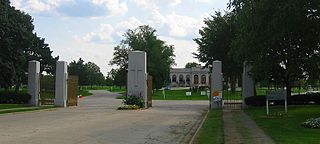 The Resurrection Cemetery in Justice, made famous by the story of Resurrection Mary.