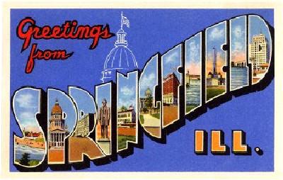 Springfield Illinois Postcard