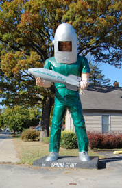 The Gemini Giant in Wilmington, Illinois